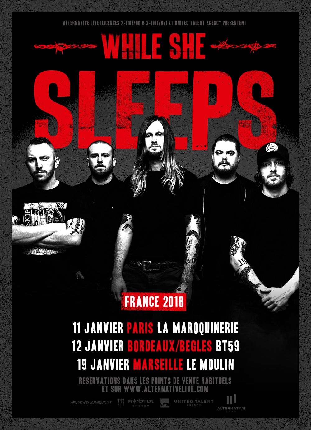 While She Sleeps à Paris, Toulouse et Marseille !