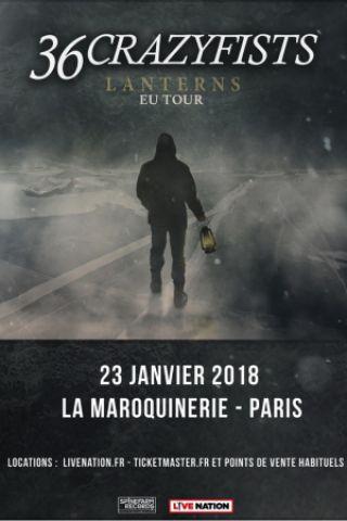 36 CrazyFists en concert à Paris en janvier !