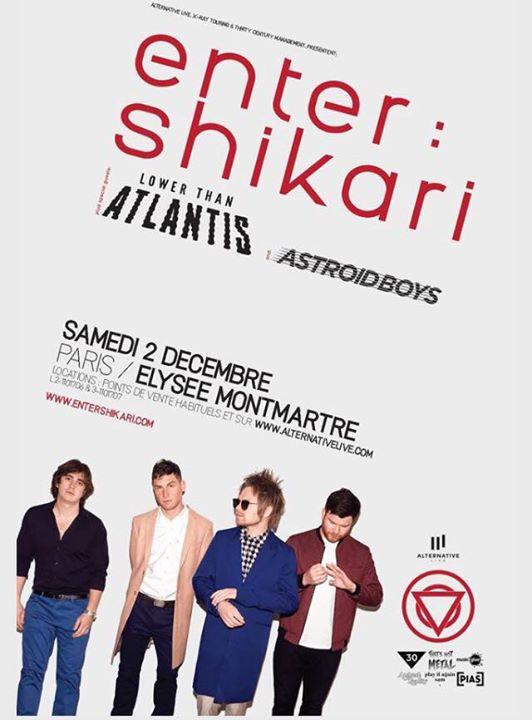 Enter Shikari le 2 décembre