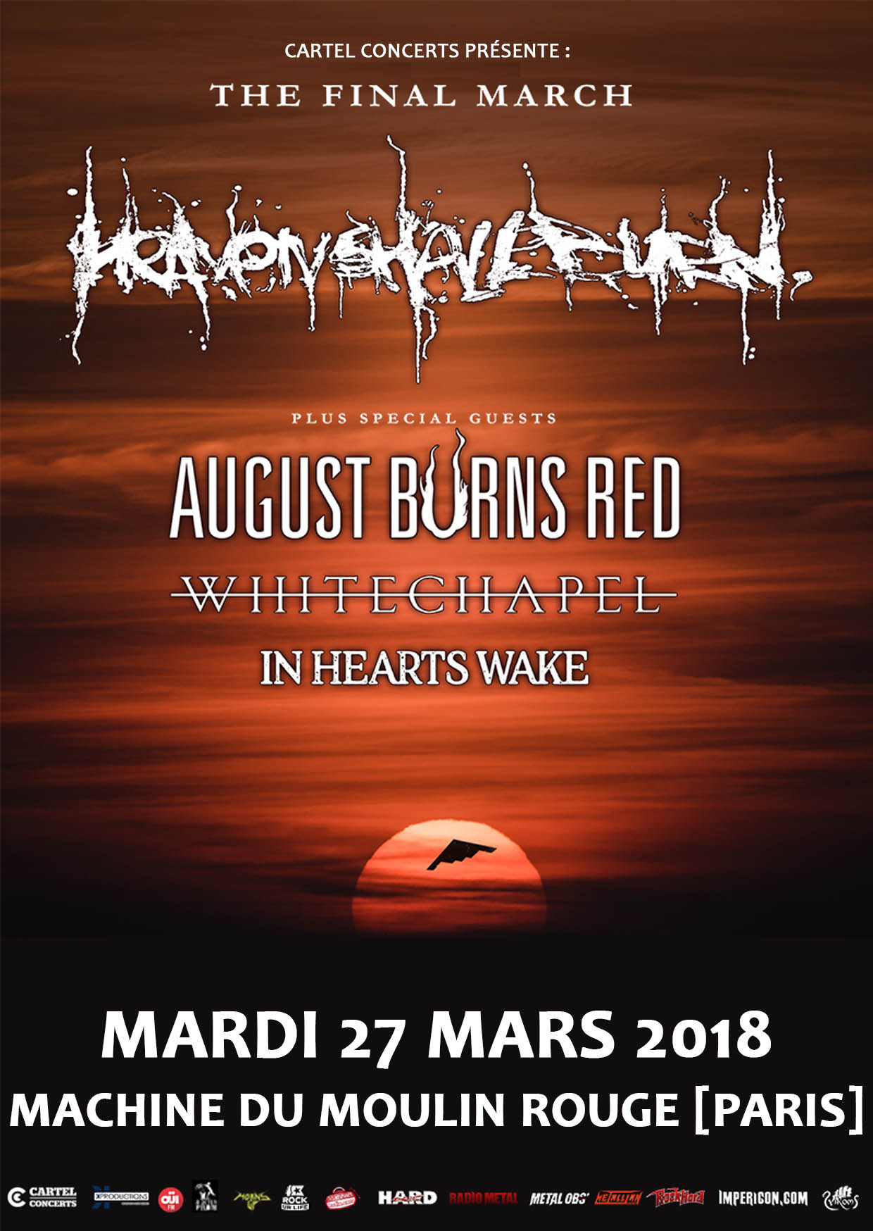 Heaven Shall Burn August Burns Red en France !